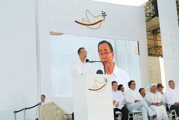 Ban Ki-moon en Cartagena, Colombia. Foto de archivo: ONU/Rick Bajornas