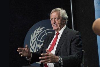 Nicholas Haysom mshauri maalum wa Umoja wa Mataifa kuhusu mgogoro wa Sudan akihojiwa na UN