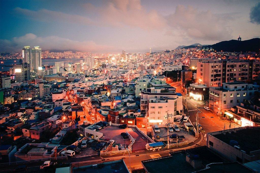 韩国第二大城市釜山。