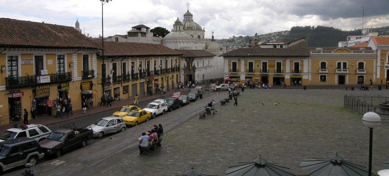 The metropolis  of Quito, Ecuador.