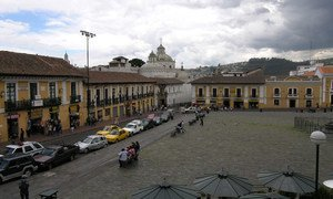 The city of Quito, Ecuador, which was declared a World Heritage Site by the UN Educational, Scientific and Cultural Organization (UNESCO), in the late 1970s. Photo: © UNESCO/Francesco Bandarin
