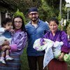 UNICEF Regional Goodwill Ambassador and film actor and director Aamir Khan (centre) in Bhutan to help advocate against malnutrition.