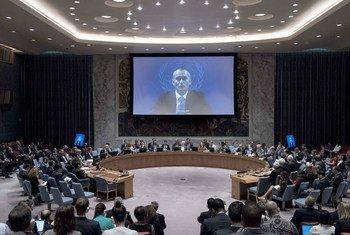 أرشيف: نيكولاي ملادينوف، المنسق الخاص لعملية السلام في الشرق الأوسط، في كلمته أمام مجلس الأمن