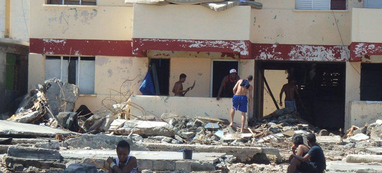 Imágenes de la destrucción dejada por el huracán Matthews en el municipio de Baracoa, en la provincia de Guantánamo, Cuba. Foto: PMA/Cuba