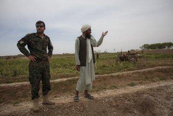 La police afghane chargée de la lutte contre la drogue dans la province d'Helmand, en Afghanistan, en avril 2015 (archives).