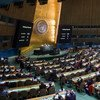Wide view of the General Assembly meeting to consider the necessity of ending the economic, commercial and financial embargo imposed by the United States of America against Cuba.