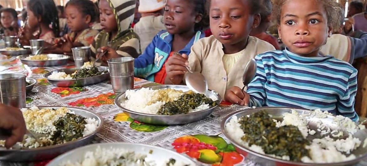For most children in southern Madagascar, the school lunch is their only nutritious meal of the day.