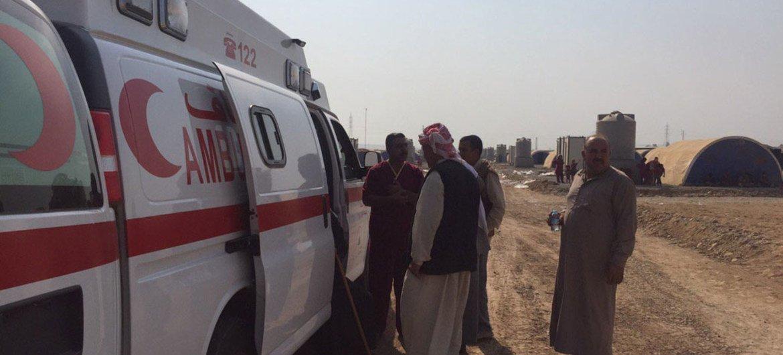 (من الأرشيف) قامت منظمة الصحة العالمية بنشر عيادات متنقلة في عدد من المدن العراقية، لتلبية احتياجات السكان الطبية في تلك المدن .