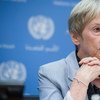 Special Adviser Karen AbuZayd prior to the UN Summit for Refugees and Migrants, addressing large movements of refugees and migrants. Photo/Amanda Voisard