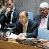 Ban Ki-moon en el Consejo de Seguridad. Foto: ONU/Evan Schneider