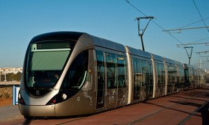 The tramway service between Rabat and Salé in Morocco.