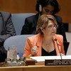 联合国贩运人口问题特别报告员玛丽亚·格拉齐亚·加玛丽纳洛(Maria Grazia Giammarinaro)。