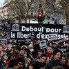 Manifestación en París tras asalto a la revista Charlie Hebdo. Foto: UNESCO/C. Darmouni