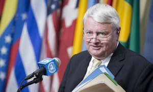 Under-Secretary-General for UN Peacekeeping Operations, Hervé Ladsous, briefs reporters after closed-door consultations with the Security Council.