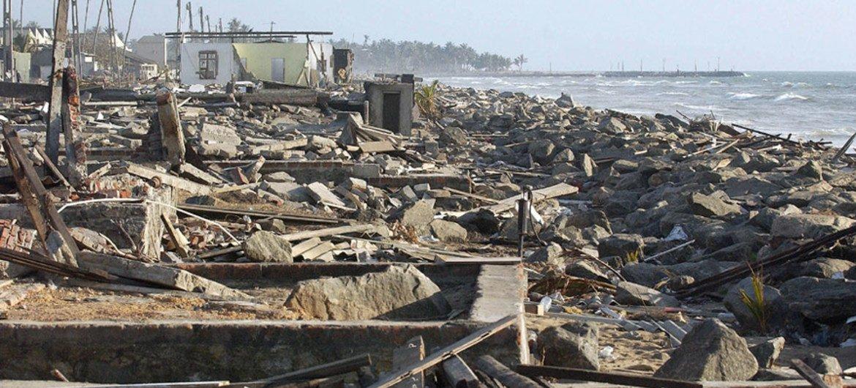 Tsunami Destruction UN chief highli...