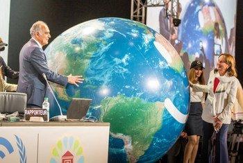 El presidente de la COP 22 y ministro de Asuntos Exteriores de Marruecos, Salaheddine Mezouar, en la inauguración de la conferencia de la ONU. Foto: UNFCCC