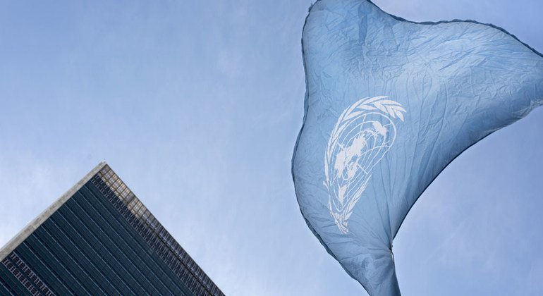 The United Nations flag flies at UN Headquarters in New York. (file)