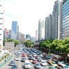 A street scene in Shanghai, China.