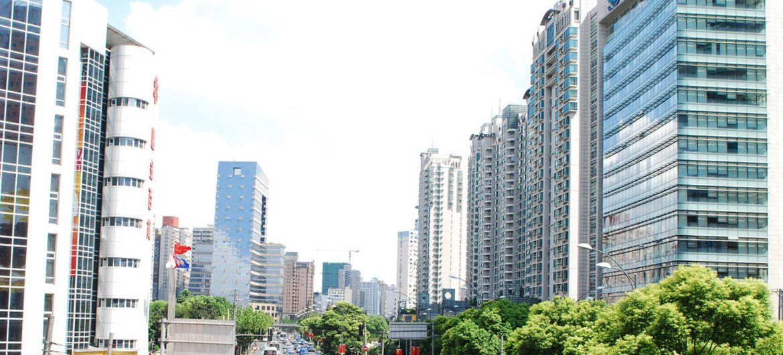 中国城市街景。