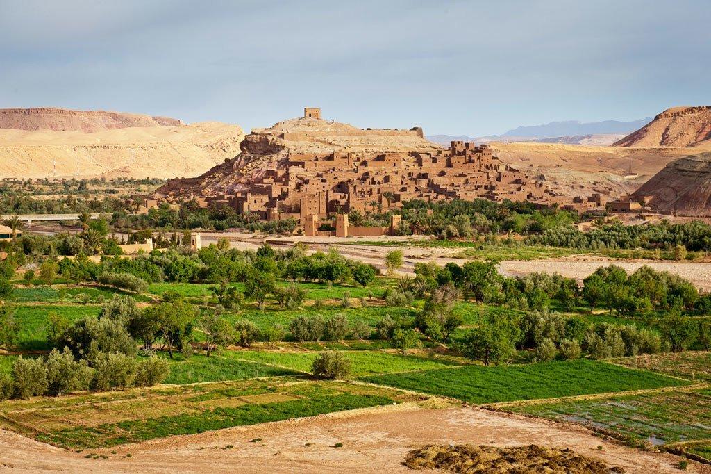 La région de Ouarzazate, au sud du Maroc.