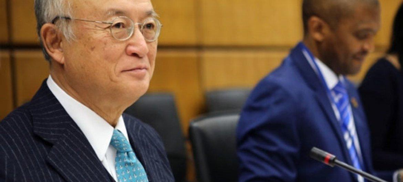 IAEA Director General Yukiya Amano at the Board of Governors meeting.
