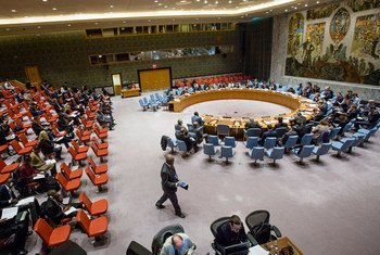 Wide view of the Security Council during its meeting on Cooperation between the United Nations and Regional Organizations.