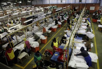 A textile factory in Lesotho. (file)