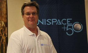 Luc St-Pierre, Chief of the Space Applications Section, at the UN Office for Outer Space Affairs (UNOOSA),