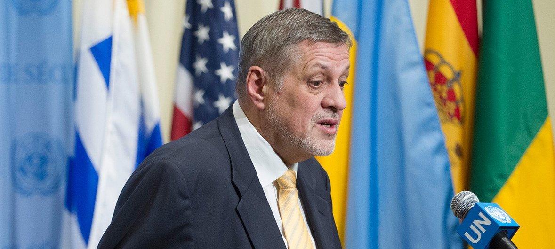 أرشيف: يان كوبيش، الممثل الخاص للأمين العام ورئيس بعثة الأمم المتحدة لمساعدة العراق (يونامي)، في إحاطته أمام مجلس الأمن. المصدر: الأمم المتحدة / لوي فيليب