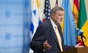 Ján Kubiš, Special Representative the Secretary-General and Head of the UN Assistance Mission for Iraq (UNAMI), briefs the press following the Security Council meeting on the situation concerning Iraq.