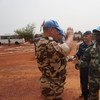 UN peacekeepers in Bria, Central African Republic.