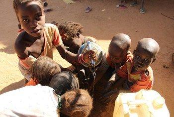 Niños refugiados en Chad.