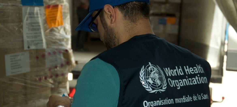 منظمة الصحة العالمية تدعم مديرية صحة نينوى، العراق، بشحنة عاجلة من الأدوية والمستلزمات لتعزيز خدمات رعاية  حالات الصدمة في مناطق شرق الموصل.