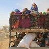 نازحون فروا من المناطق التي يسيطر عليها تنظيم داعش في الرقة. المصدر: اليونيسف /سليمان دليل
