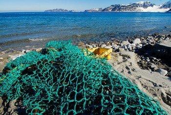 Des déchets marins, principalement du matériel de pêche, sont collectés sur les plages du nord-ouest du Spitzberg, en Norvège.