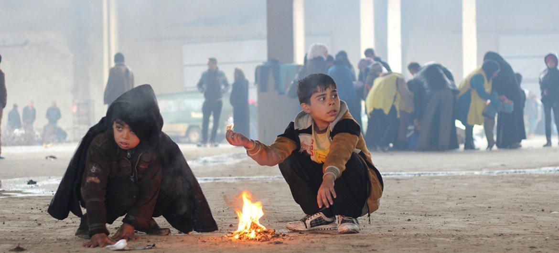 Дети, эвакуированные из Алеппо Фото ЮНИСЕФ/Аль-Исса