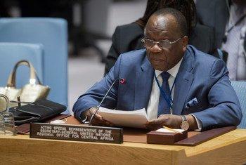 Le Représentant spécial du Secrétaire général pour l'Afrique centrale, François Louncény Fall, devant le Conseil de sécurité, en décembre 2016. Photo ONU