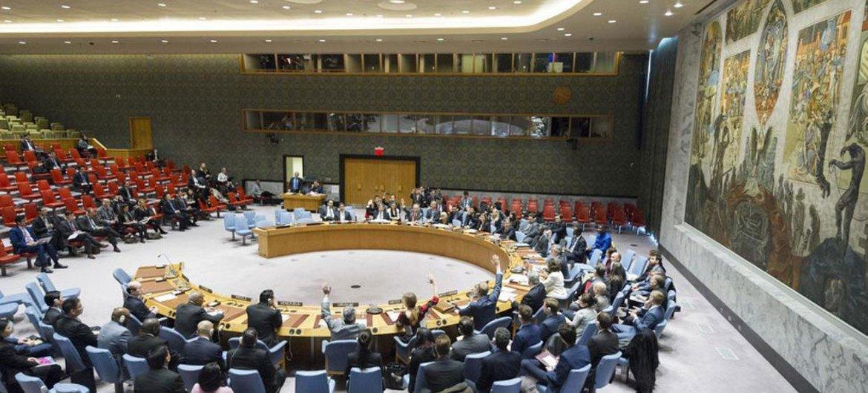 Заседание Совета Безопасности по Северной Корее  в декабре 2016 года Фото из архива ООН/Рик Баджорнас