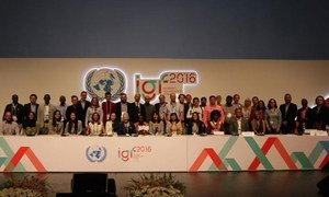 Participants at the 11th annual United Nations Internet Governance Forum (IGF) in Jalisco, Mexico.