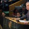 António Guterres, Secrétaire général désigné de l'Organisation des Nations Unies, prêtant serment et s'exprimant devant l'Assemblée générale. Photo ONU/Eskinder Debebe