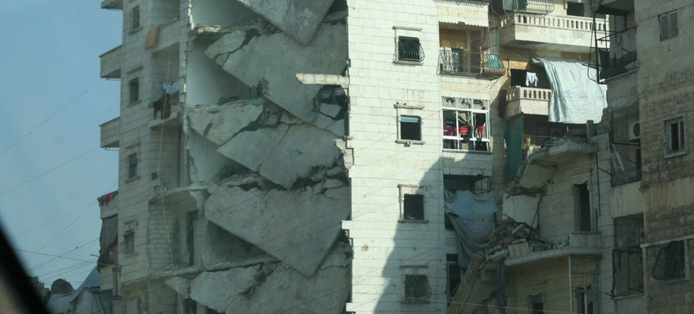 Destrucción en el barrio de Salah Ed Din en Alepo, Siria. Foto: OCHA/Josephine Guerrero