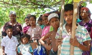 Les résidents du camp de Thet Kae Pyin pour les personnes déplacées à Sittwe, dans l'Etat de Rakhine, Myanmar. (archives)