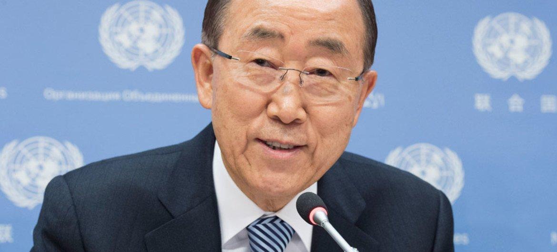 Ban Ki-moon, en declaraciones a los periodistas en la última conferencia de prensa de su mandato como Secretario General de la ONU, este viernes en Nueva York. Foto: ONU/Eskinder Debebe