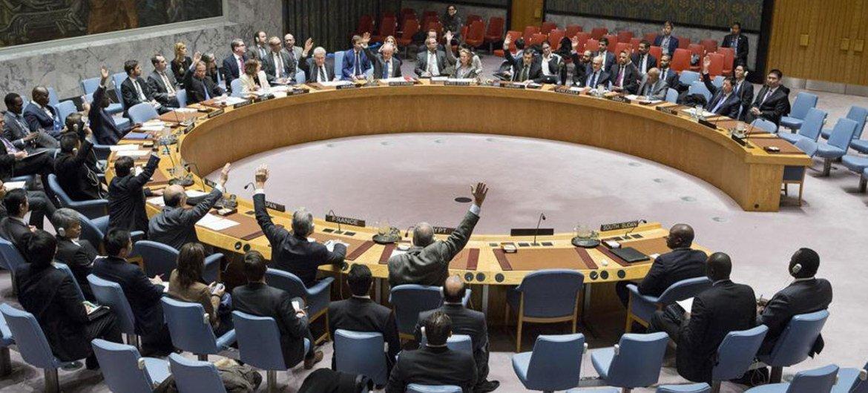 Foto de archivo: Votación en el Consejo de Seguridad de la ONU. Foto: ONU / Manuel Elias
