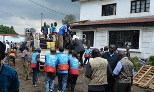 Input operators in the Democratic Republic of the Congo (DRC) receive electoral kits from the office of the Independent Electoral Commission. The material will be deployed to the different electoral centres in Goma.