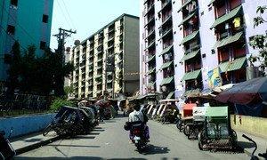 菲律宾马尼拉的一个街区。