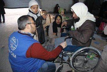 Семья сирийцев, бежавших из Алеппо Фото МОМ/ Сирия