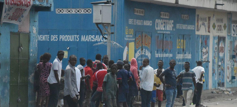 Un rassemblement de personnes à Kinshasa lors des manifestations qui ont eu lieu en République démocratique du Congo (RDC) les 19 et 20 décembre 2016 (archive).
