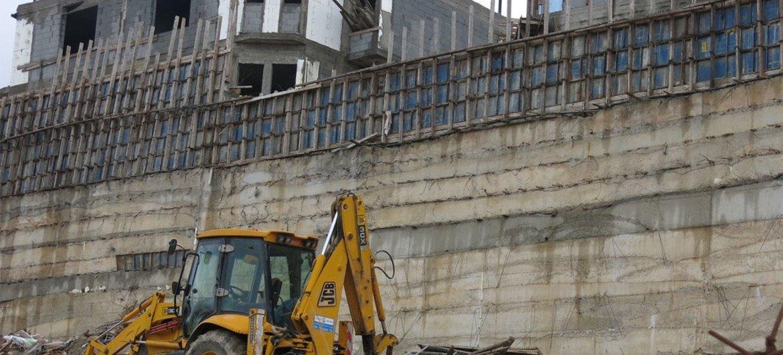 Construcción de asentamientos en Cisjordania.