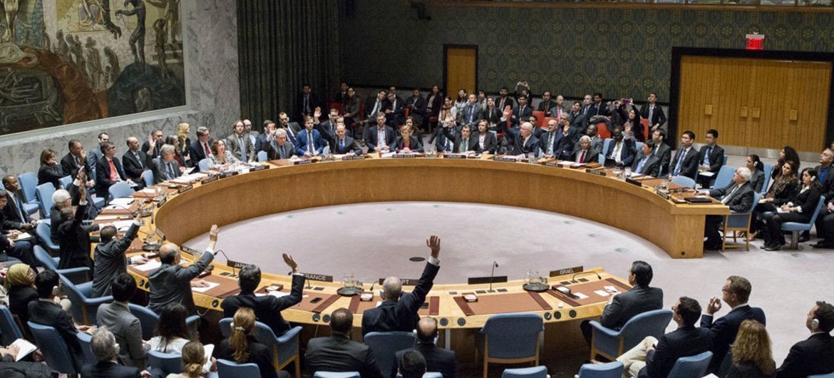 The Security Council votes on resolution reiterating its demand that Israel immediately and completely cease all settlement activities in the occupied Palestinian territory, including East Jerusalem. The vote was 14 in favour, with one abstention (United States).